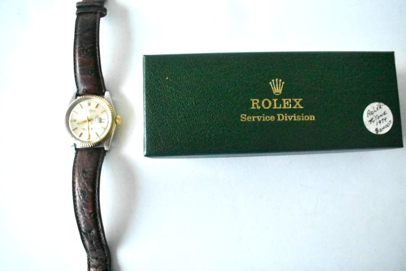 ROLEX TWO TONE OYSTER PERPETUAL W/ DATEJUST - 2
