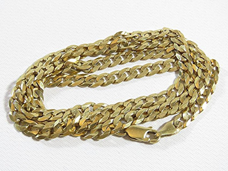 14K YELLOW GOLD CUBAN LINK CHAIN/NECKLACE