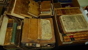 LOT ASSORTED LEATHER BOUND BOOKS, 18/20TH C.