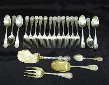 WALLACE STERLING FLATWARE SERVICE, 19TH C.