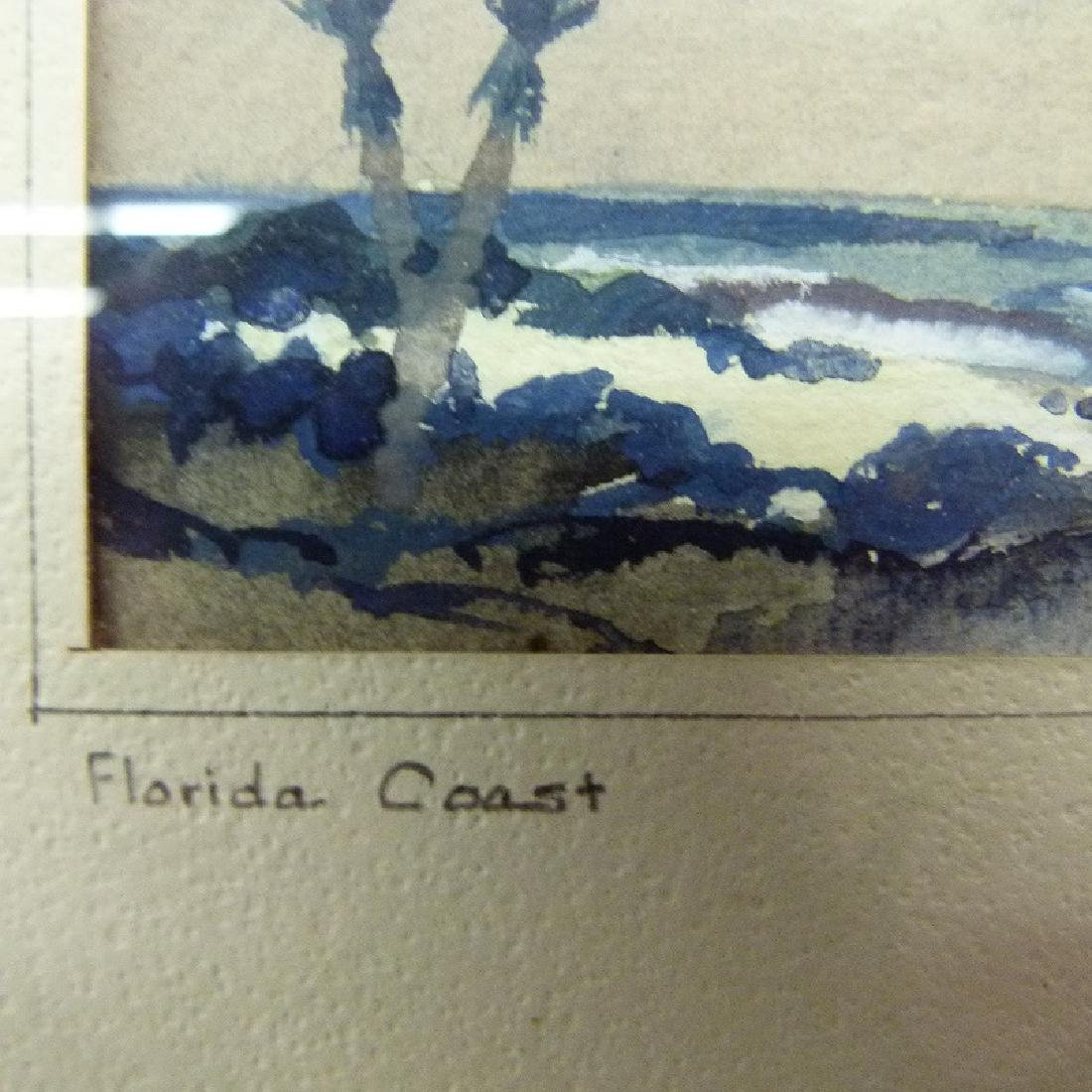 W/C FLORIDA COAST SIGNED JOHN C. HARE, 20TH C. - 4