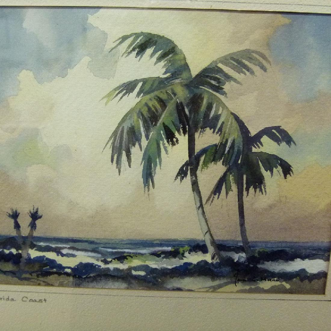 W/C FLORIDA COAST SIGNED JOHN C. HARE, 20TH C. - 5