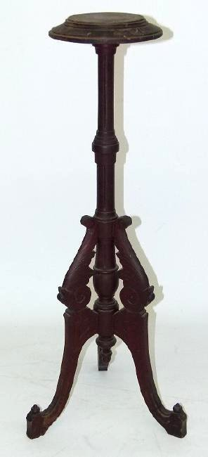 VICTORIAN CARVED WALNUT FERN STAND, 19TH C.