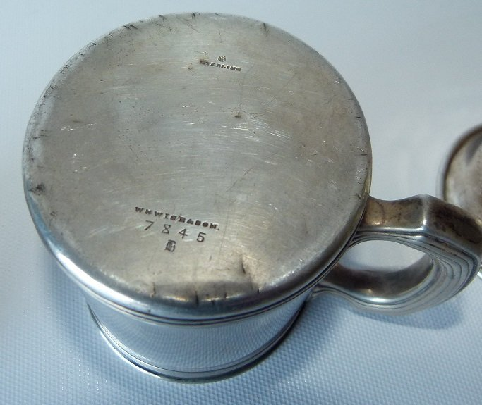 LOT (3) STERLING PRESENTATION CUP/MUGS, C. 1900 - 4