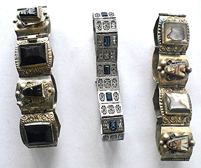 LOT (3) ASSORTED INCL. MEXICAN STERLING BRACELET