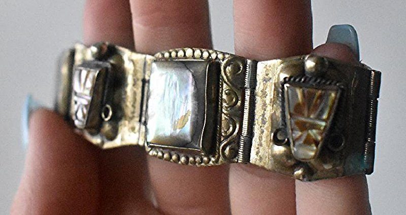 LOT (3) ASSORTED INCL. MEXICAN STERLING BRACELET - 3