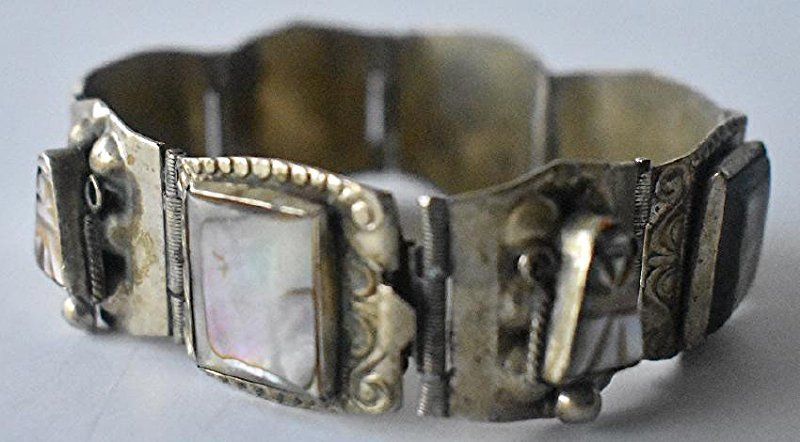 LOT (3) ASSORTED INCL. MEXICAN STERLING BRACELET - 6