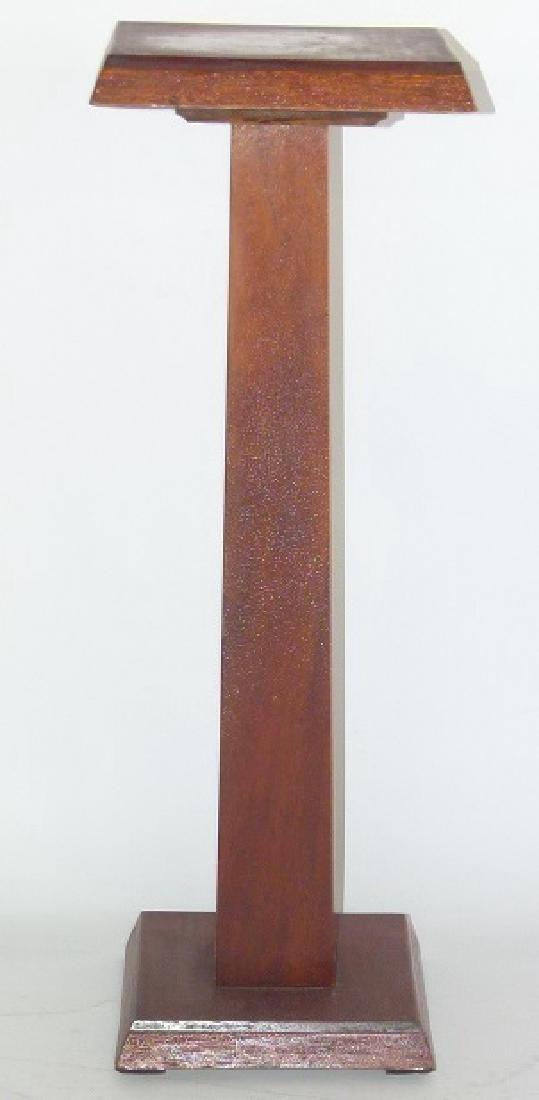 EMPIRE STYLE MAHOGANY PEDESTAL, 19/20TH C.