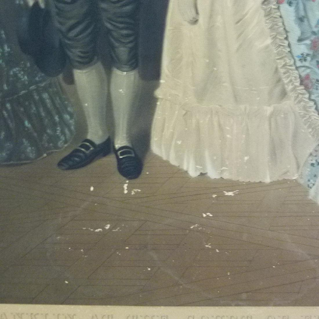 STEEL ENGRAVING BENJAMIN FRANKLIN AT THE COURT OF - 4