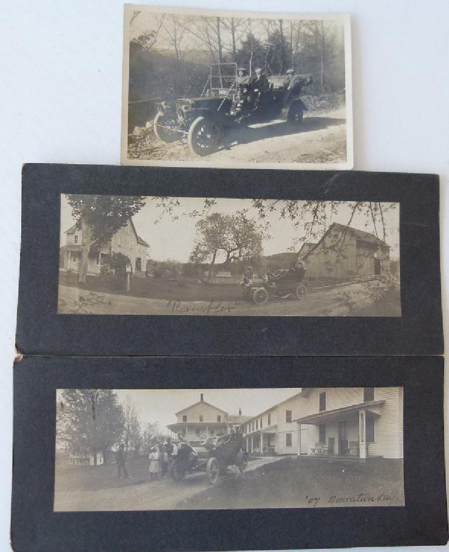LOT (3) VINTAGE AUTOMOBILE PHOTOS INCL. 1905 RAMBLER