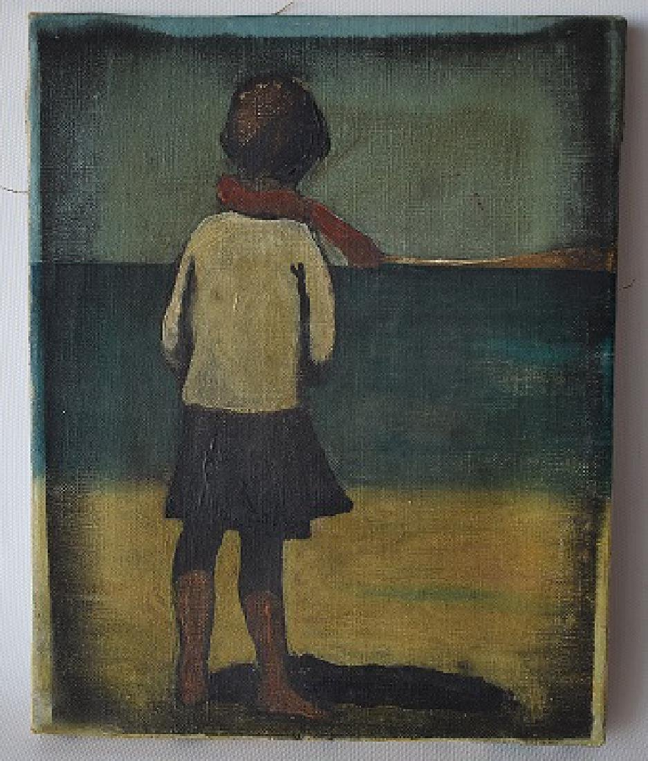 "O/C ""CHILD AT BEACH"" SIGNED ENOTRIO"