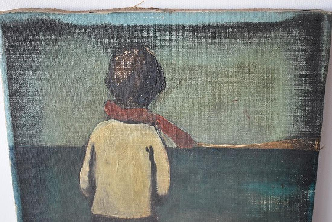 "O/C ""CHILD AT BEACH"" SIGNED ENOTRIO - 2"