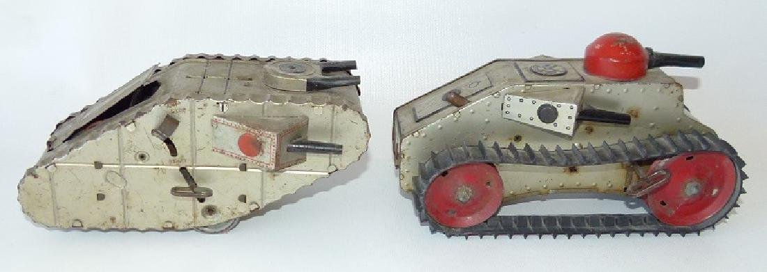 LOT (2) LOUIS MARX & CO. KEY WIND/LITHO ARMY TANKS,