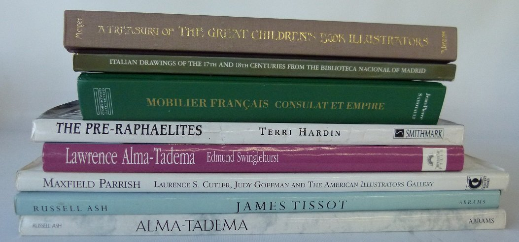 BOX LOT ART REFERENCE BOOKS INCL. JAMES TISSOT 20TH C