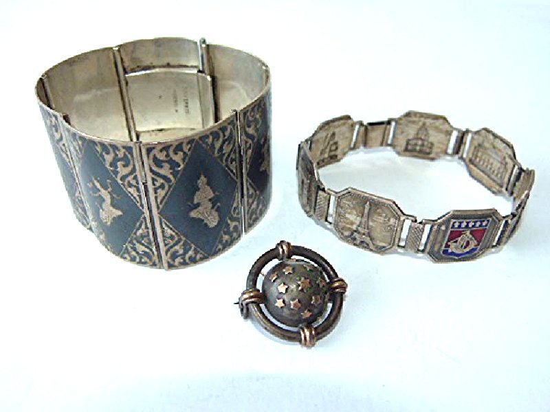 LOT ASSORTED FRENCH/SIAM STERLING, 20TH C.