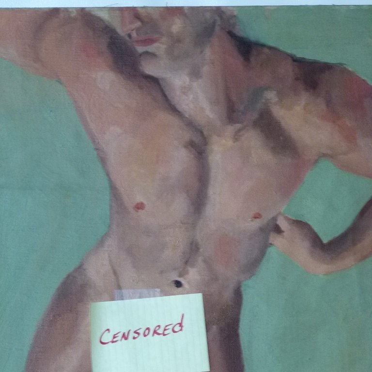 LOT (4) EROTIC PAINTINGS - 4