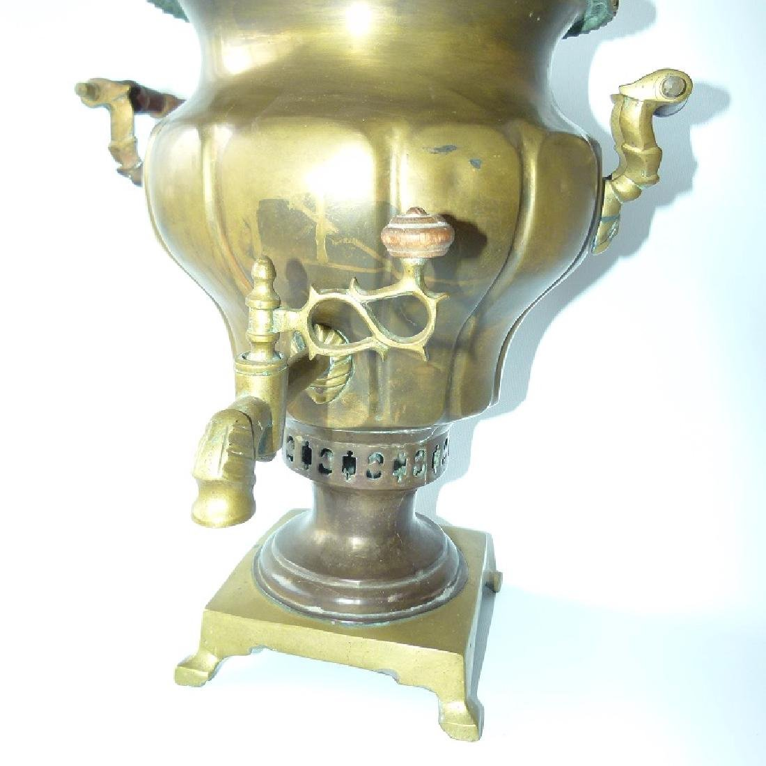 RUSSIAN BRASS SAMOVAR, 19TH C.
