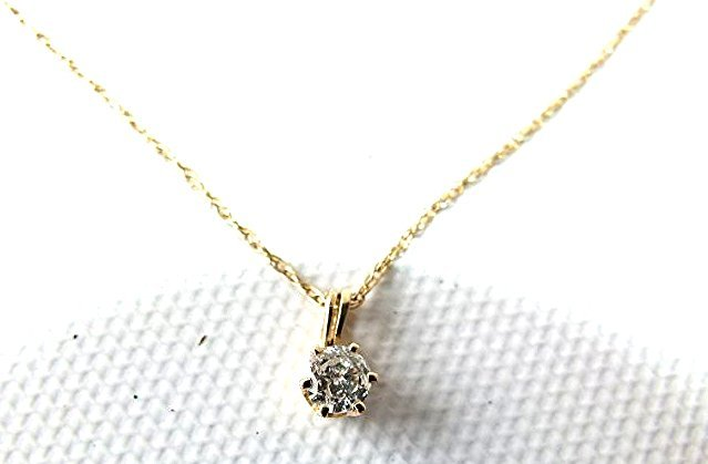14KT YELLOW GOLD/DIAMOND PENDANT/NECKLACE - 4