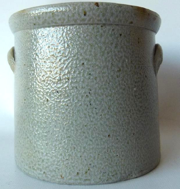BRADY & RYAN 1 GAL. SALT GLAZED STONEWARE CROCK. 19TH - 3