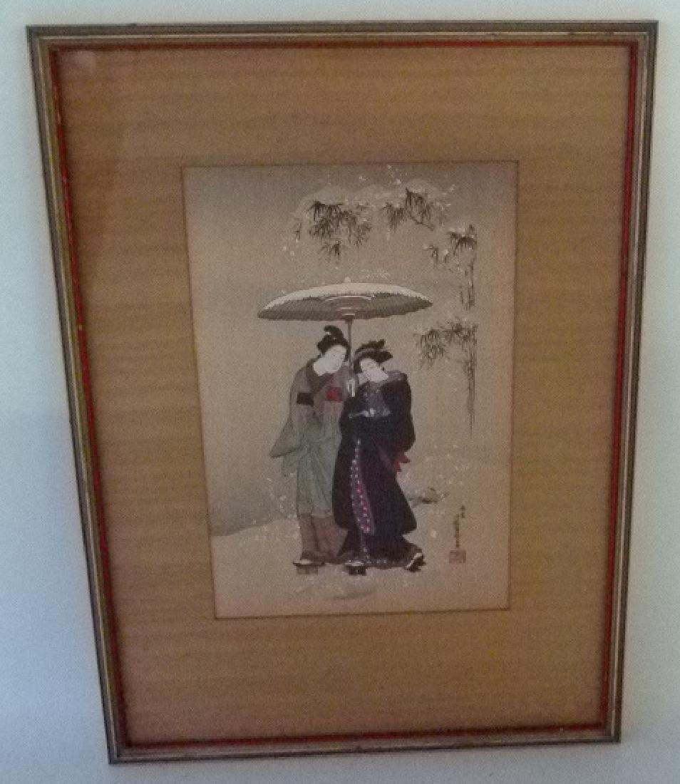 JAPANESE WOOD BLOCK PRINT, 19/20TH .