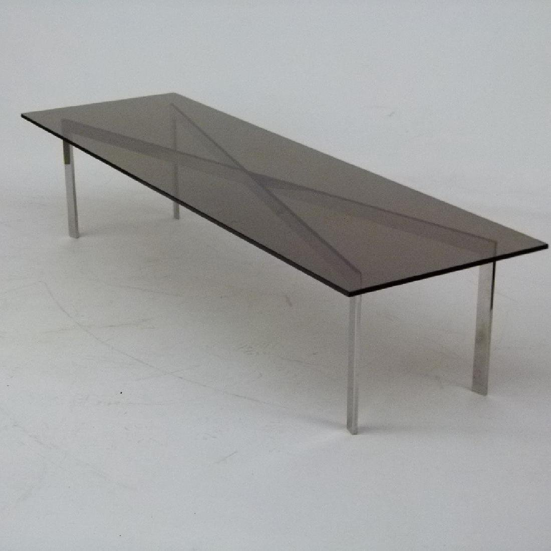 ART MODERN CHROME/GLASS COFFEE TABLE, 20TH C.