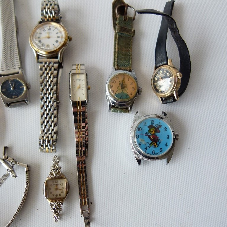 LOT ASSORTED LADIES WATCHES INCL. 14KT/CHARACTER - 4