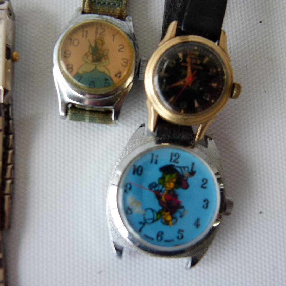 LOT ASSORTED LADIES WATCHES INCL. 14KT/CHARACTER - 5