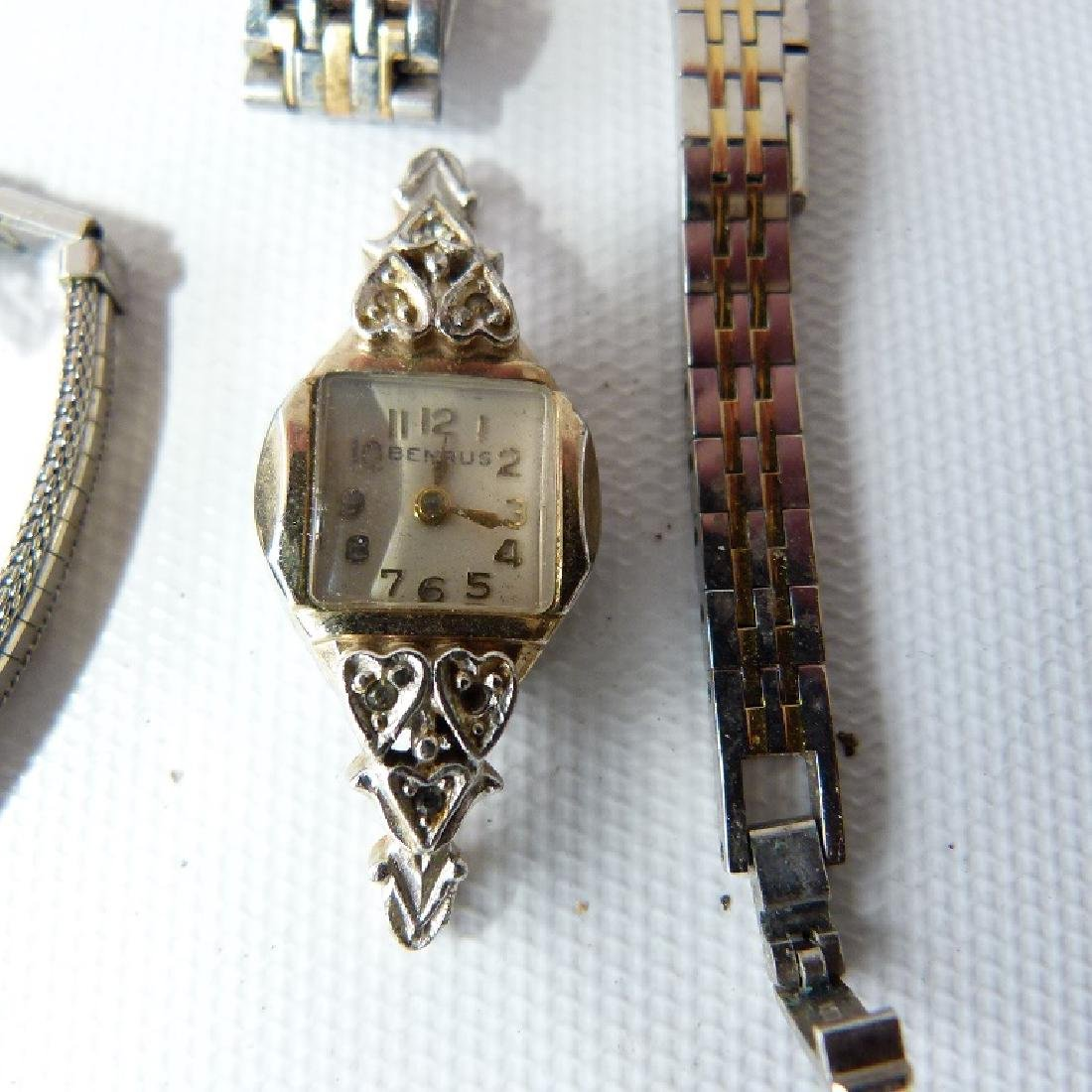 LOT ASSORTED LADIES WATCHES INCL. 14KT/CHARACTER - 6
