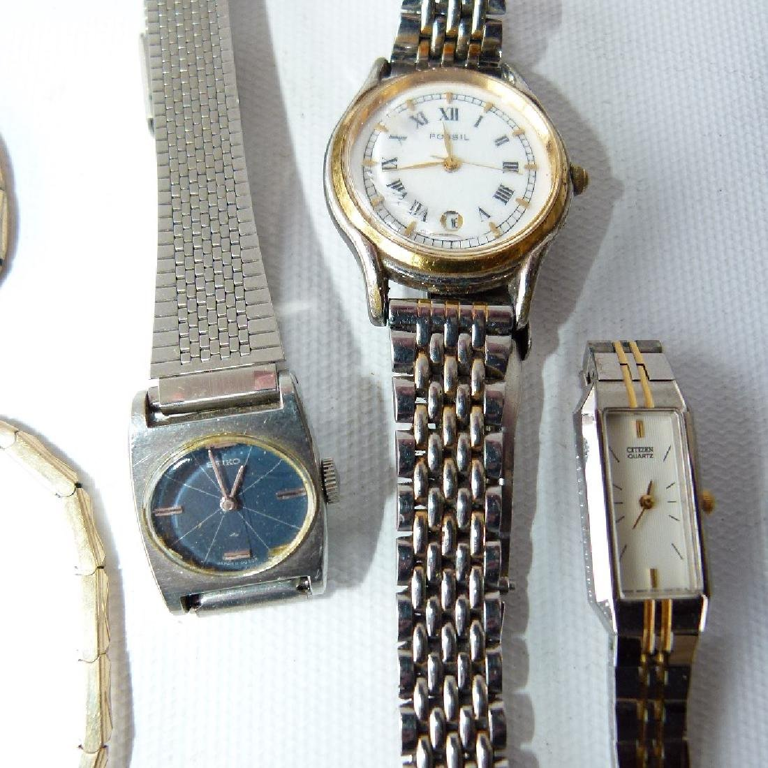LOT ASSORTED LADIES WATCHES INCL. 14KT/CHARACTER - 7