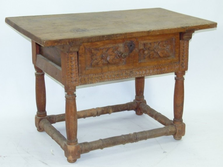 SPANISH COLONIAL SINGLE DRAWER TABLE