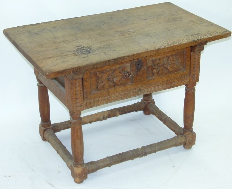 SPANISH COLONIAL SINGLE DRAWER TABLE - 2