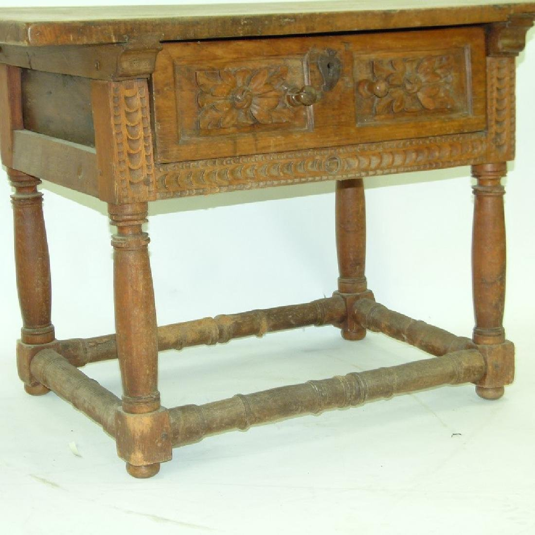 SPANISH COLONIAL SINGLE DRAWER TABLE - 3