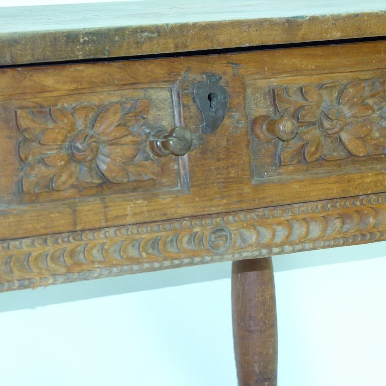 SPANISH COLONIAL SINGLE DRAWER TABLE - 4