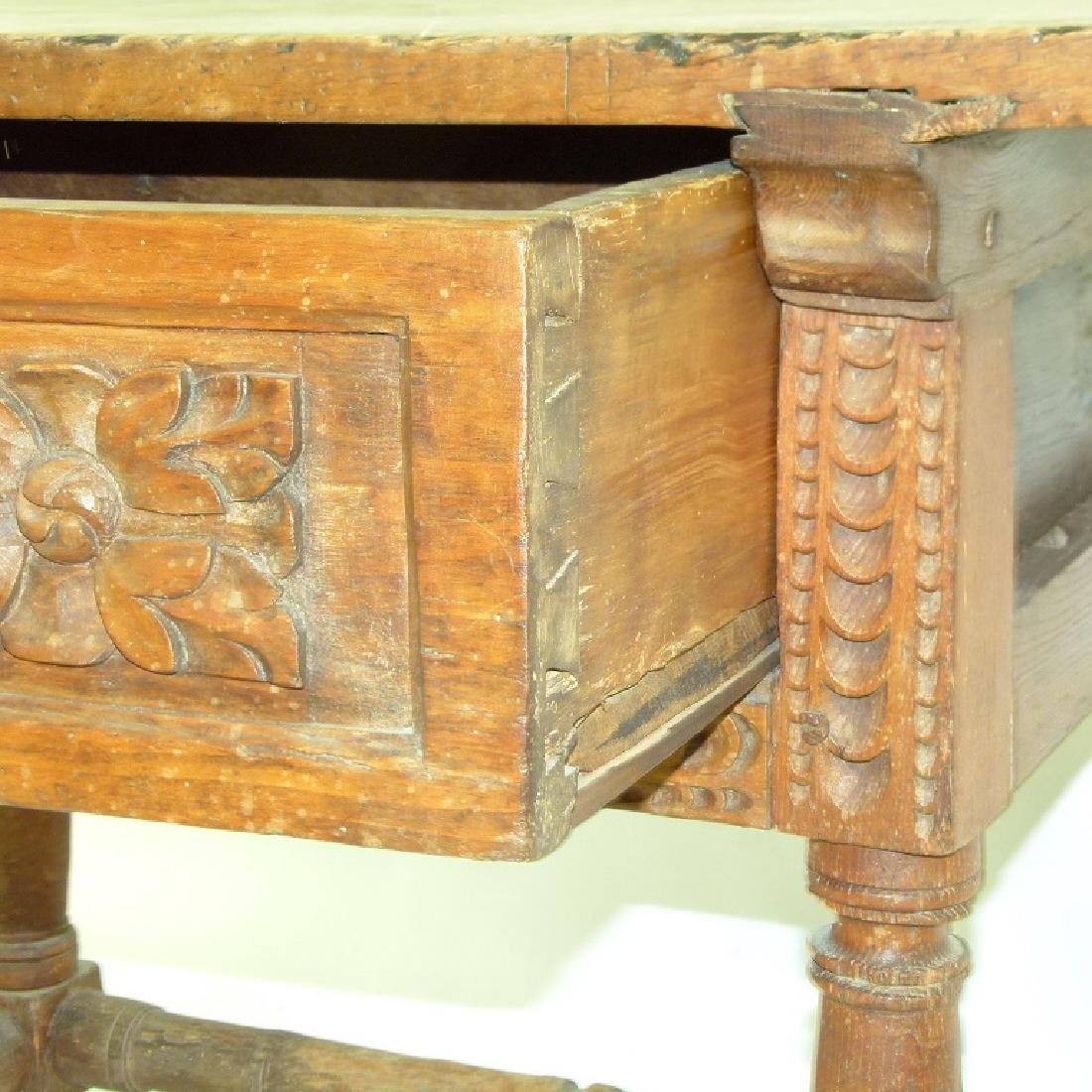 SPANISH COLONIAL SINGLE DRAWER TABLE - 9