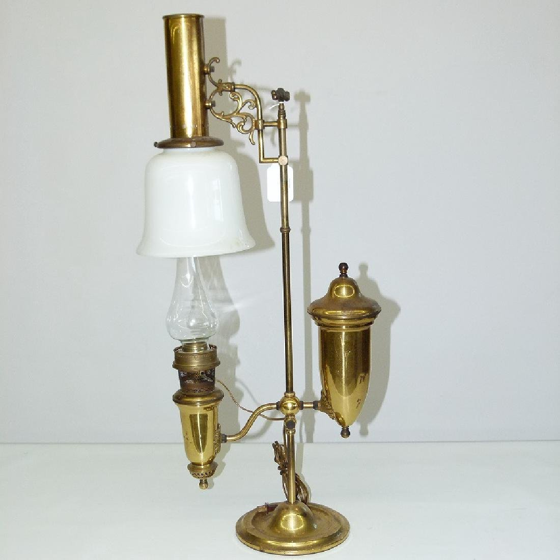 VINTAGE BRASS STEAM PUNK STUDENTS LAMP