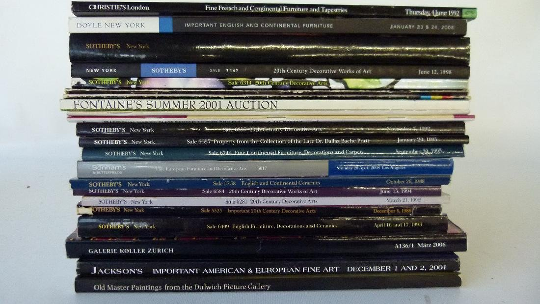 AUCTION CATALOGS OF FINE ART, DECOR, CERAMICS INCL.
