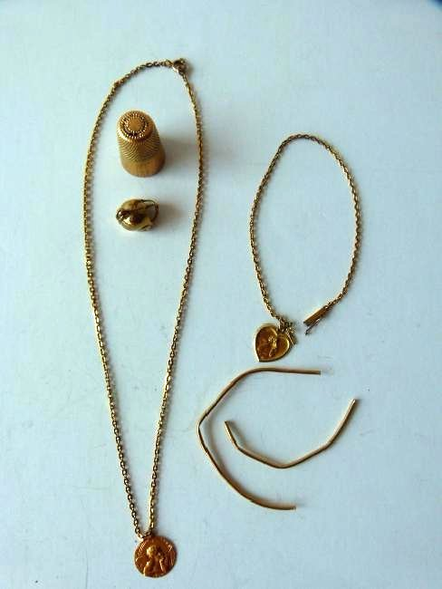 LOT ASSORTED 14KT YELLOW GOLD FINDINGS