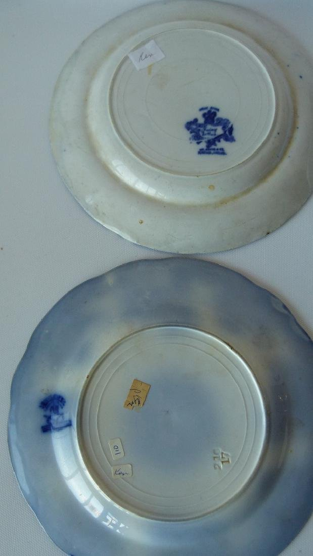 LOT (8) ASSORTED FLOW BLUE IRONSTONE DINNER/LUNCHEON - 3