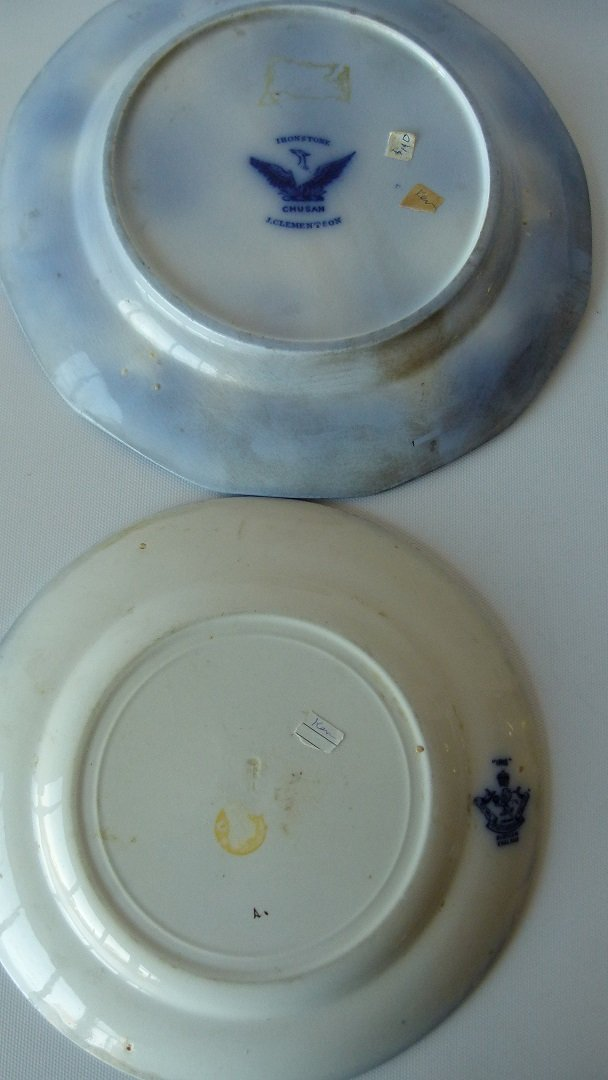 LOT (8) ASSORTED FLOW BLUE IRONSTONE DINNER/LUNCHEON - 5