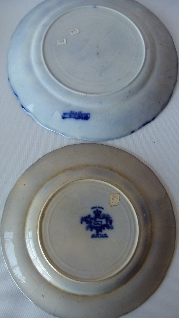 LOT (8) ASSORTED FLOW BLUE IRONSTONE DINNER/LUNCHEON - 7