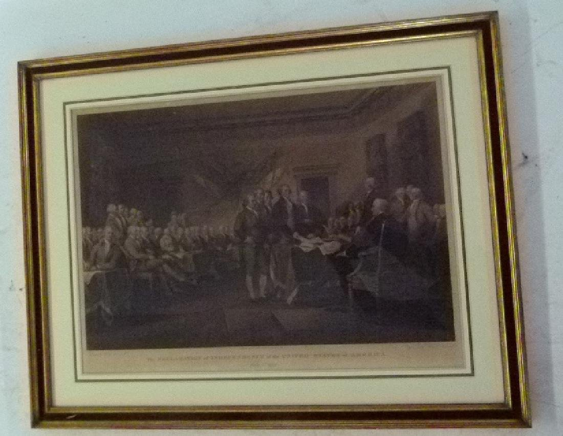 "STEEL ENGRAVING ""THE DECLARATION OF INDEPENDENCE"""