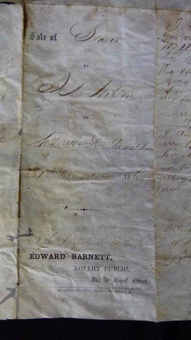 LOT (3) RARE SLAVE DOCUMENTS INCL. ENLISTED SLAVES IN