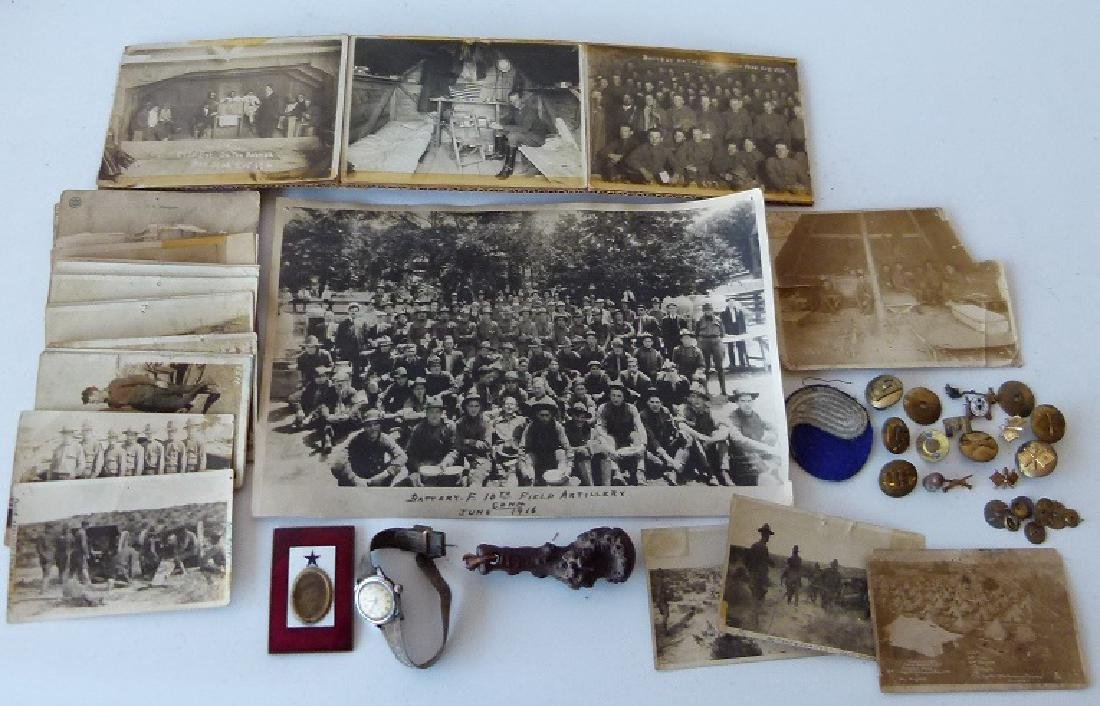 LARGE LOT WWI US ARMY BATTERY F AT MEXICAN BORDER - 6