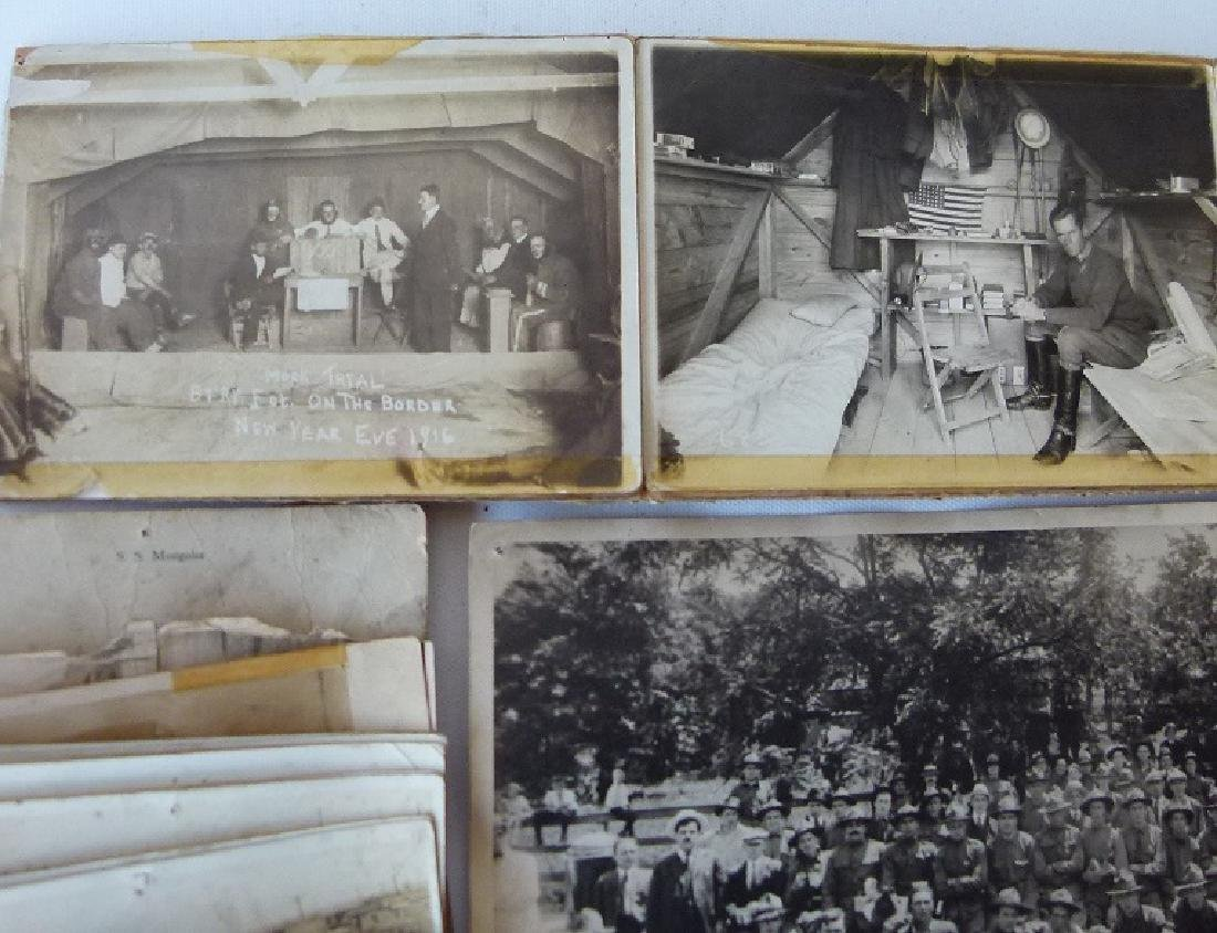 LARGE LOT WWI US ARMY BATTERY F AT MEXICAN BORDER - 8