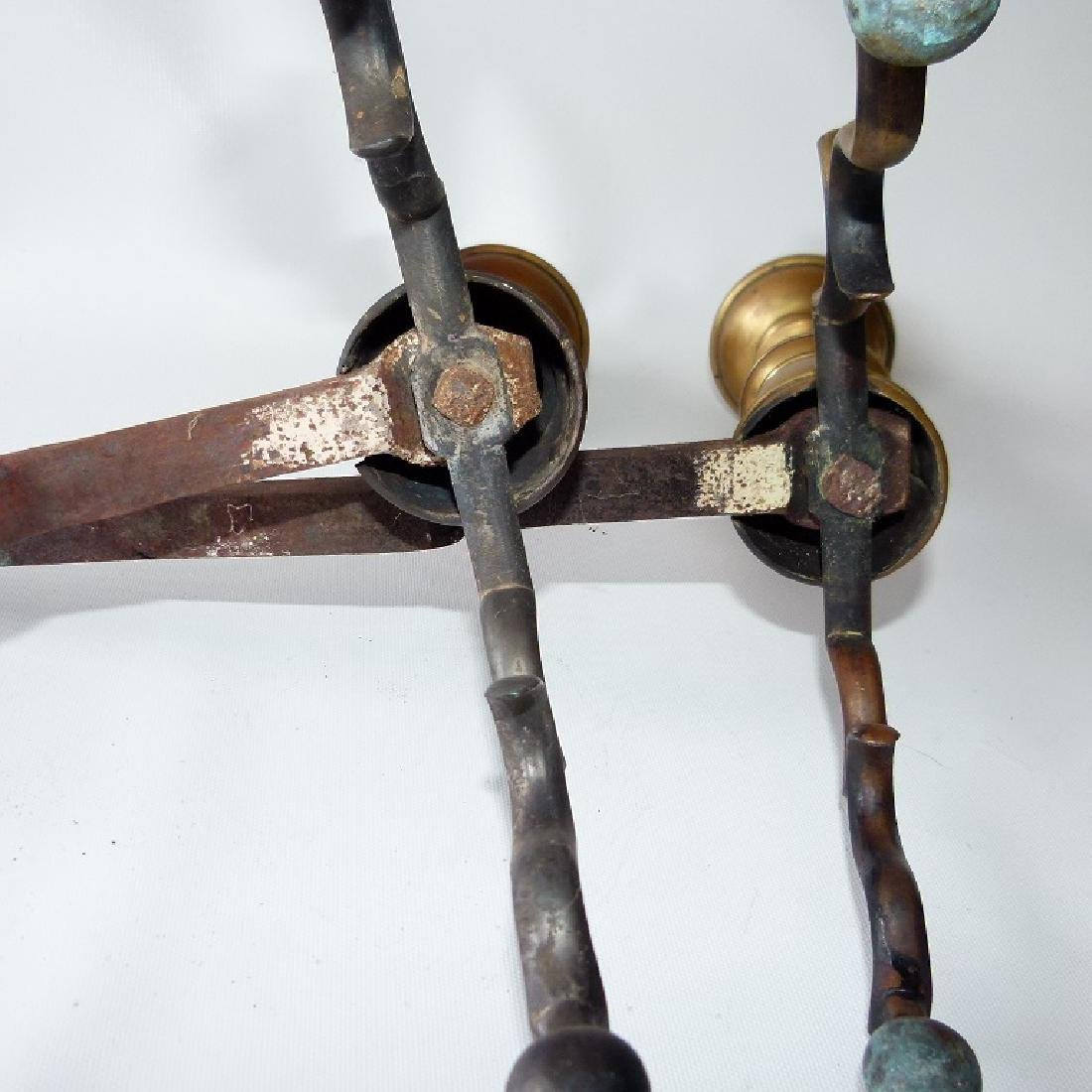 PAIR FEDERAL BRASS ANDIRONS, 19TH C. - 8