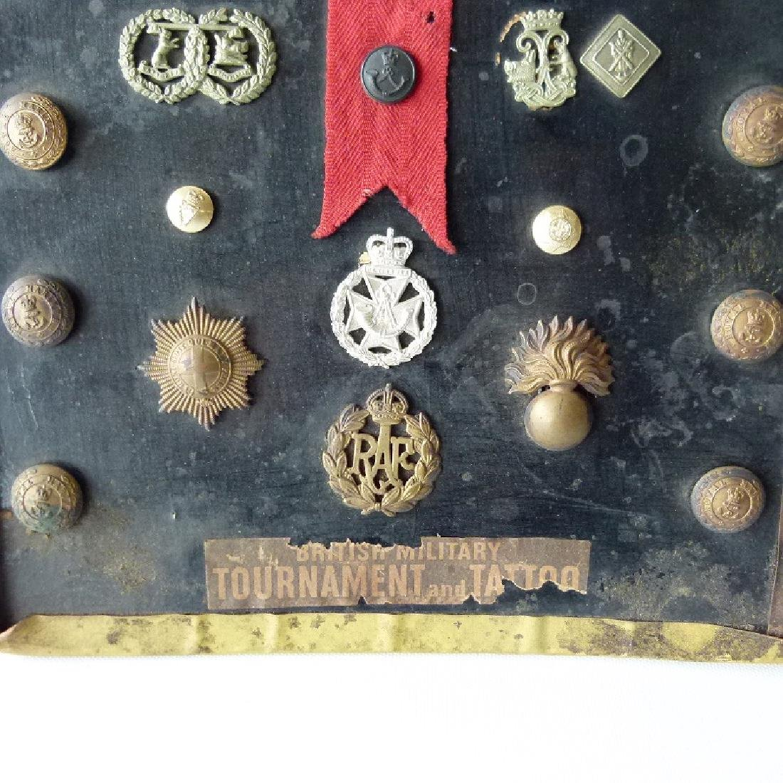 WORLD WAR I ASSORT. ENGLISH/BRITISH MILITARY BUTTONS, - 2
