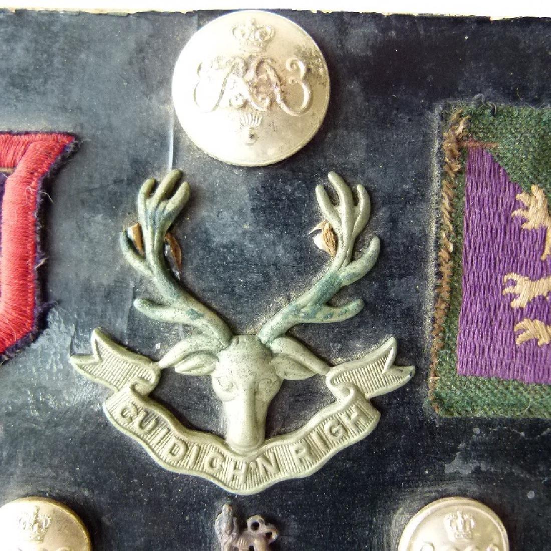 WORLD WAR I ASSORT. ENGLISH/BRITISH MILITARY BUTTONS, - 6