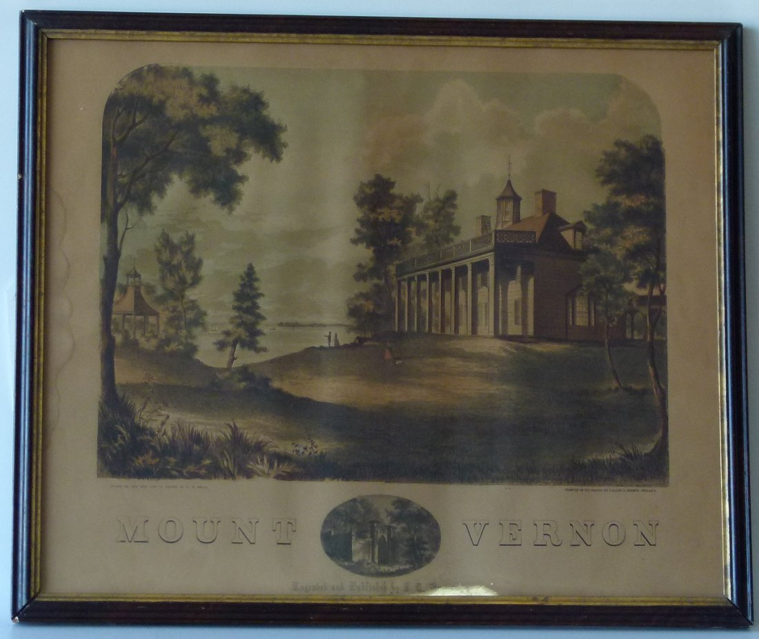 PRINT MOUNT VERNON AFTER C.H. WELLS, PRINTED COLLINS &