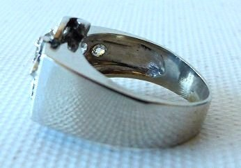 ART DECO 14KT. WHITE GOLD DIAMOND RING W/APPROX. 1 CT. - 6