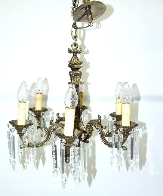 FRENCH RENAISSANCE BRONZE CHANDELIER C. 1920